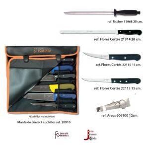 Juego cuchillos corte jamón 5.1. Flores Cortés