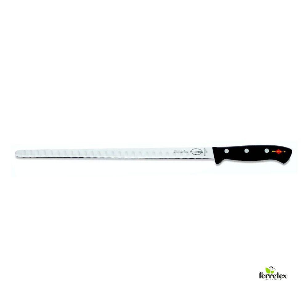 Cuchillo jamonero inox. de 280 mm hoja brillo inyección Azul