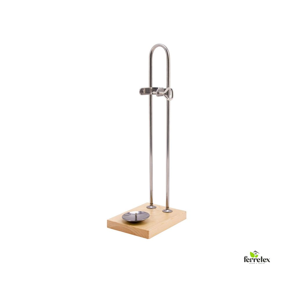 Jamonero Modelo Vertical Inoxidable base madera ref. 17401