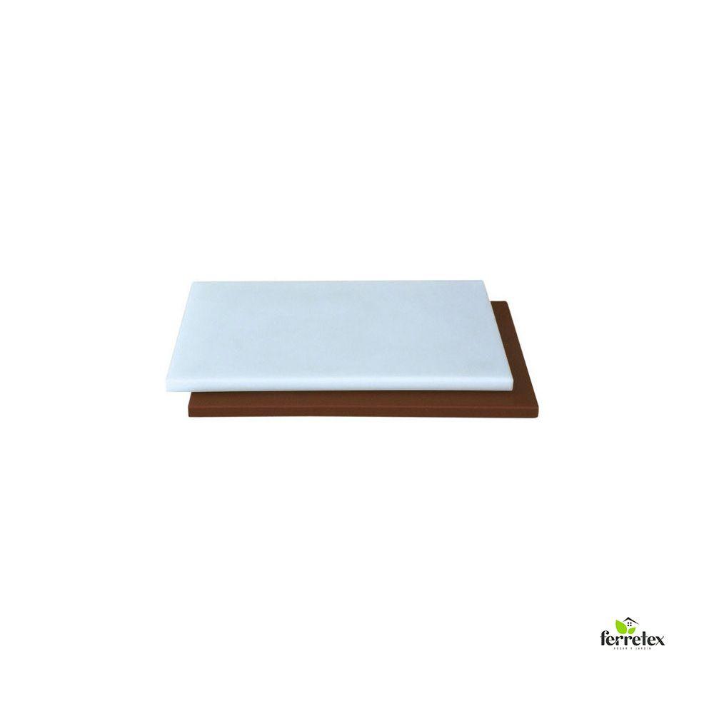 Plancha Fibra Cocina 500X300X15 Blanca o marrón ref. 18101