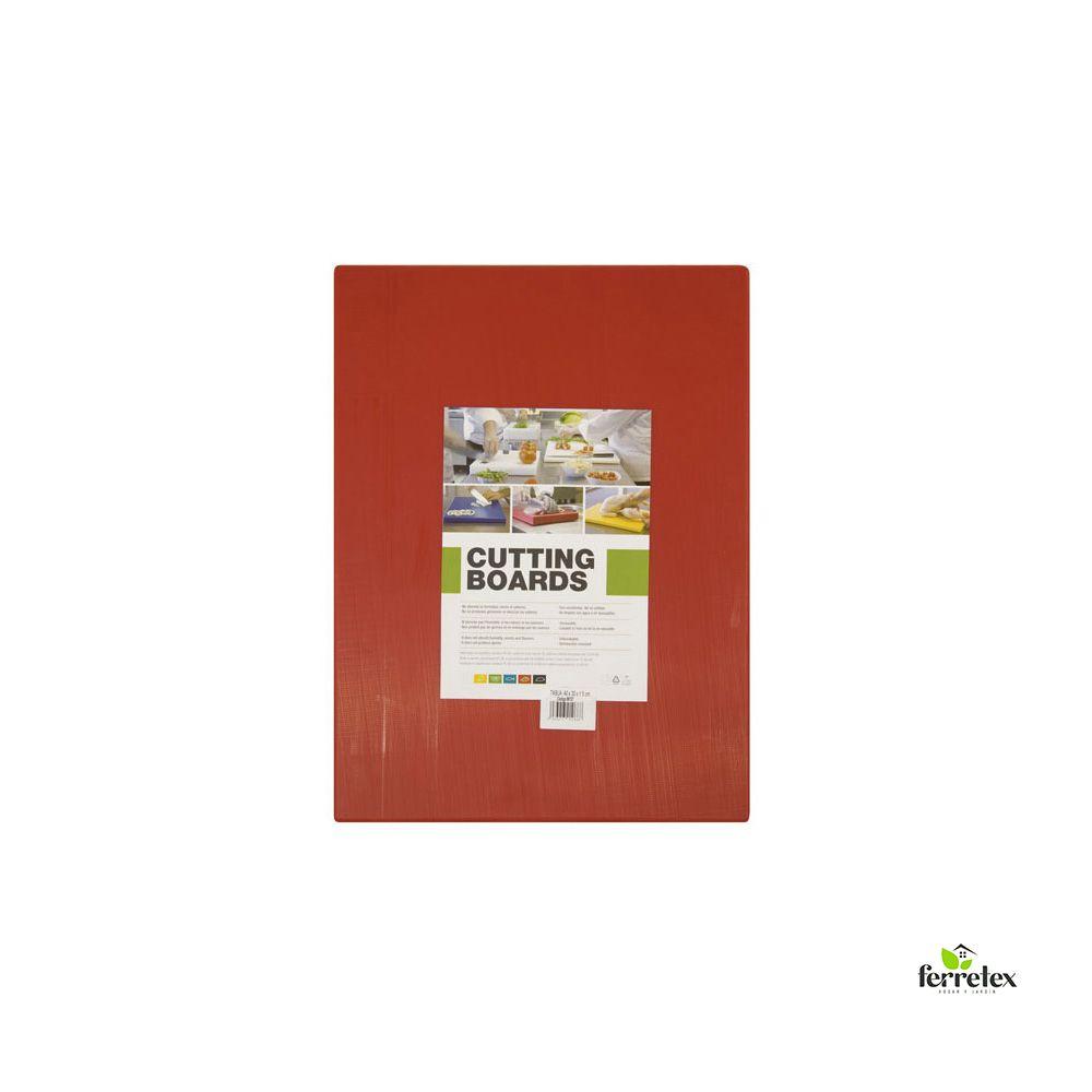 Tabla Plancha Fibra Cocina 400X300X15 Roja ref. 18111