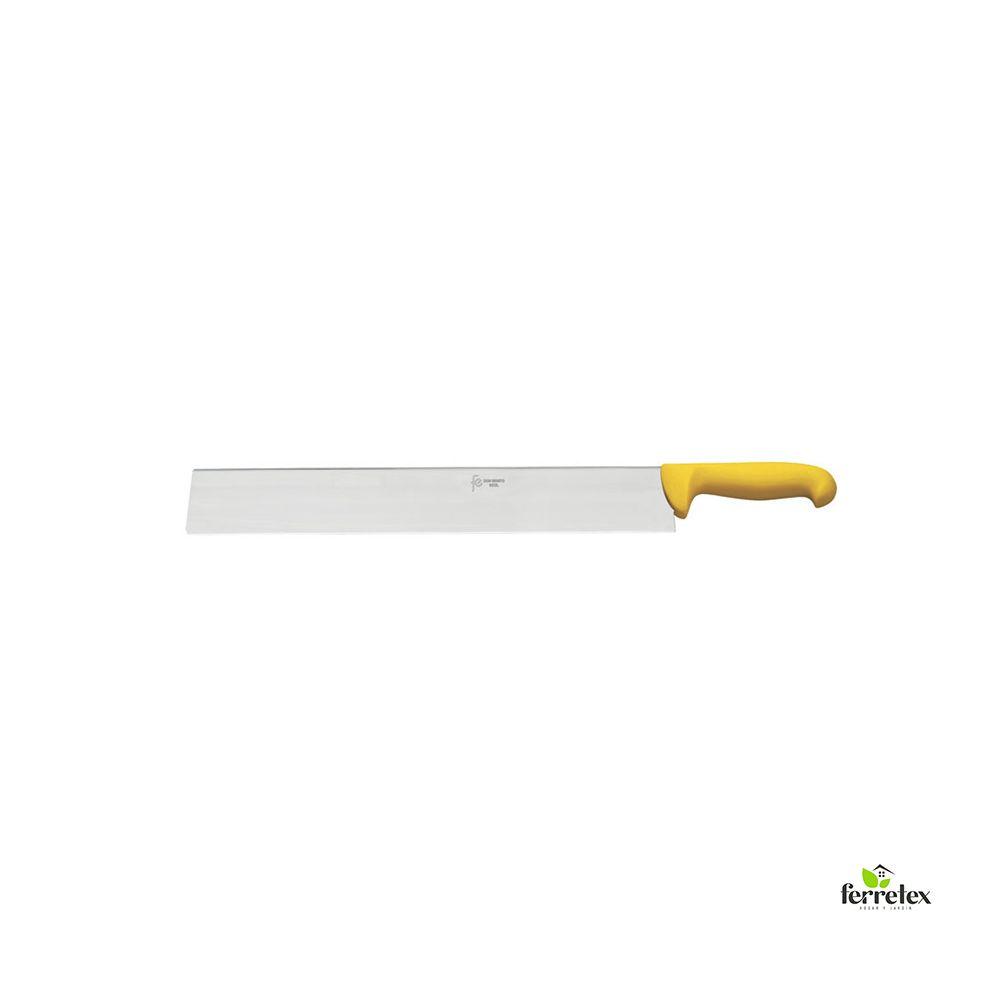 Cuchillo cortar queso 300 mm. inox. mango amarillo ref. 22522