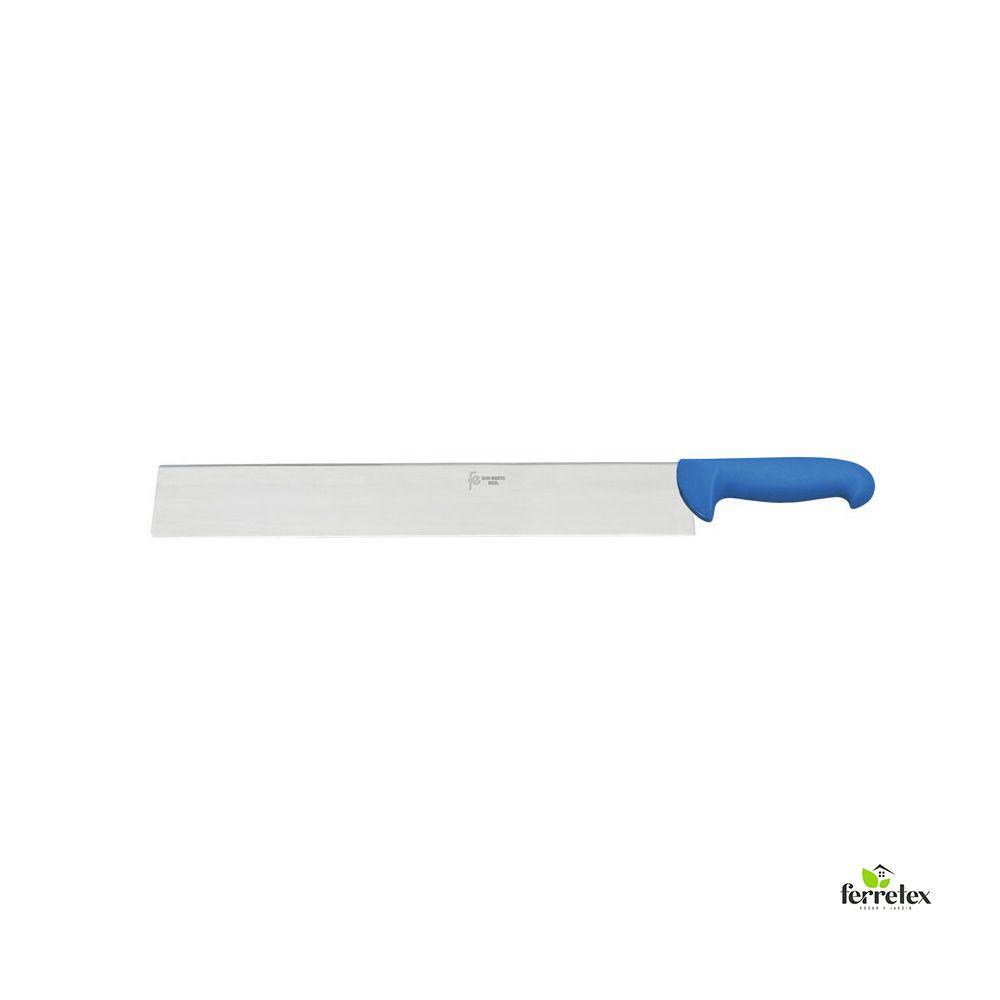 Cuchillo cortar queso 300 mm. inox. mango azul ref. 22552