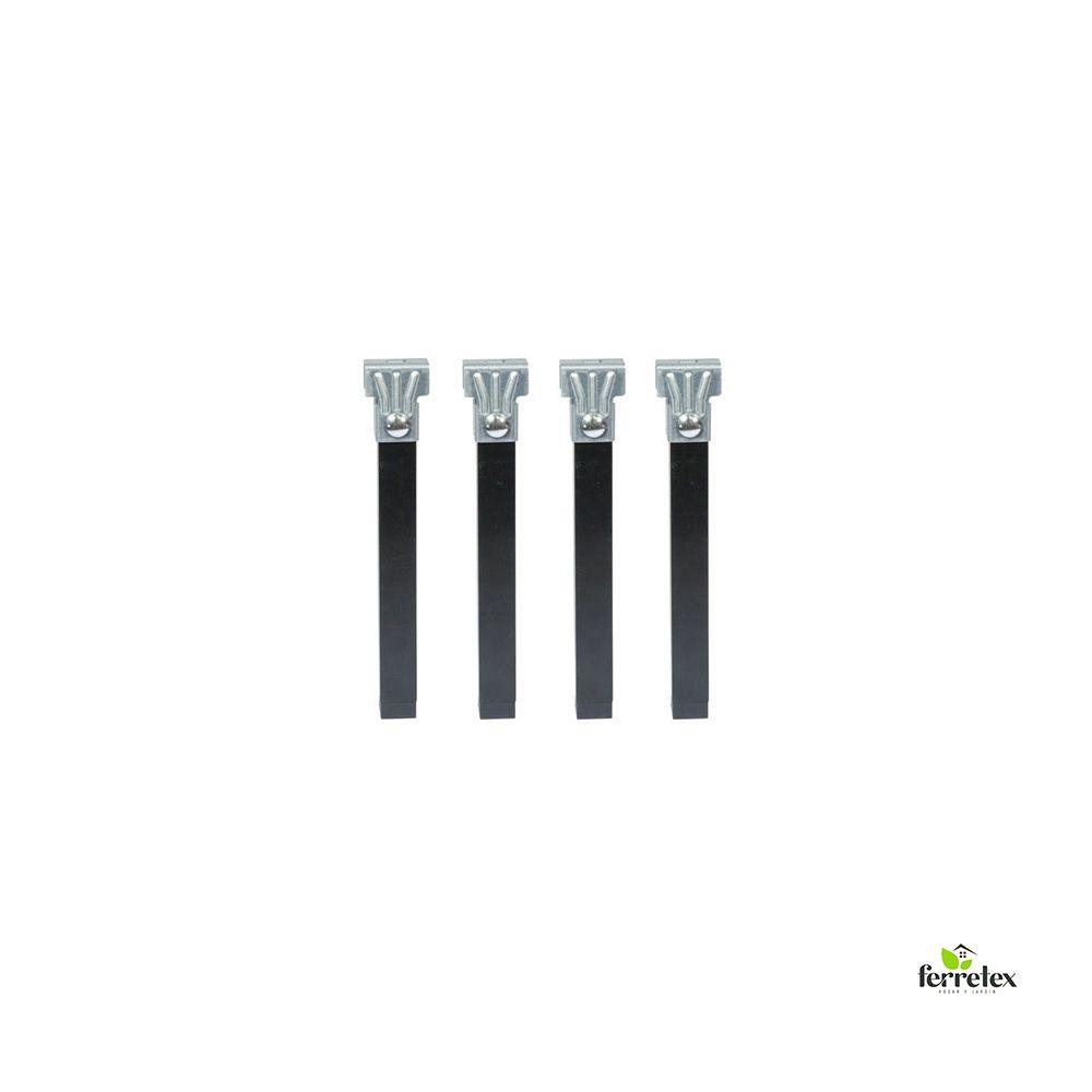 Juego patas somier de alto 250 mms y tubo de 30X30 mms. ref. 39001