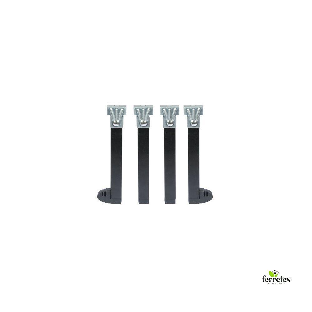 Juego patas somier con rueda altura 250 mms. y tubo de 30x30 mms ref. 39101