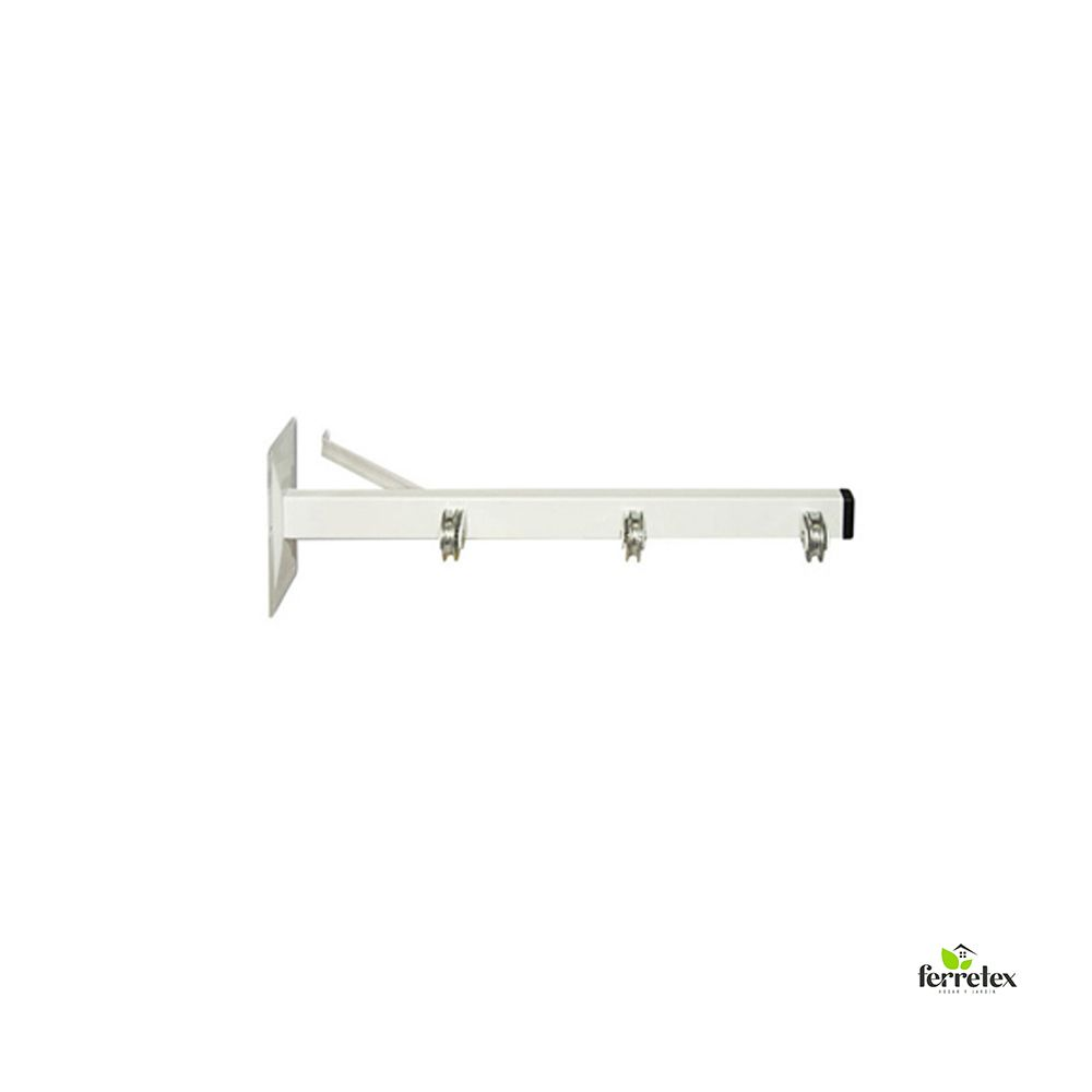 Tendedero blanco pared 3 poleas 2 uds. ref. 39222