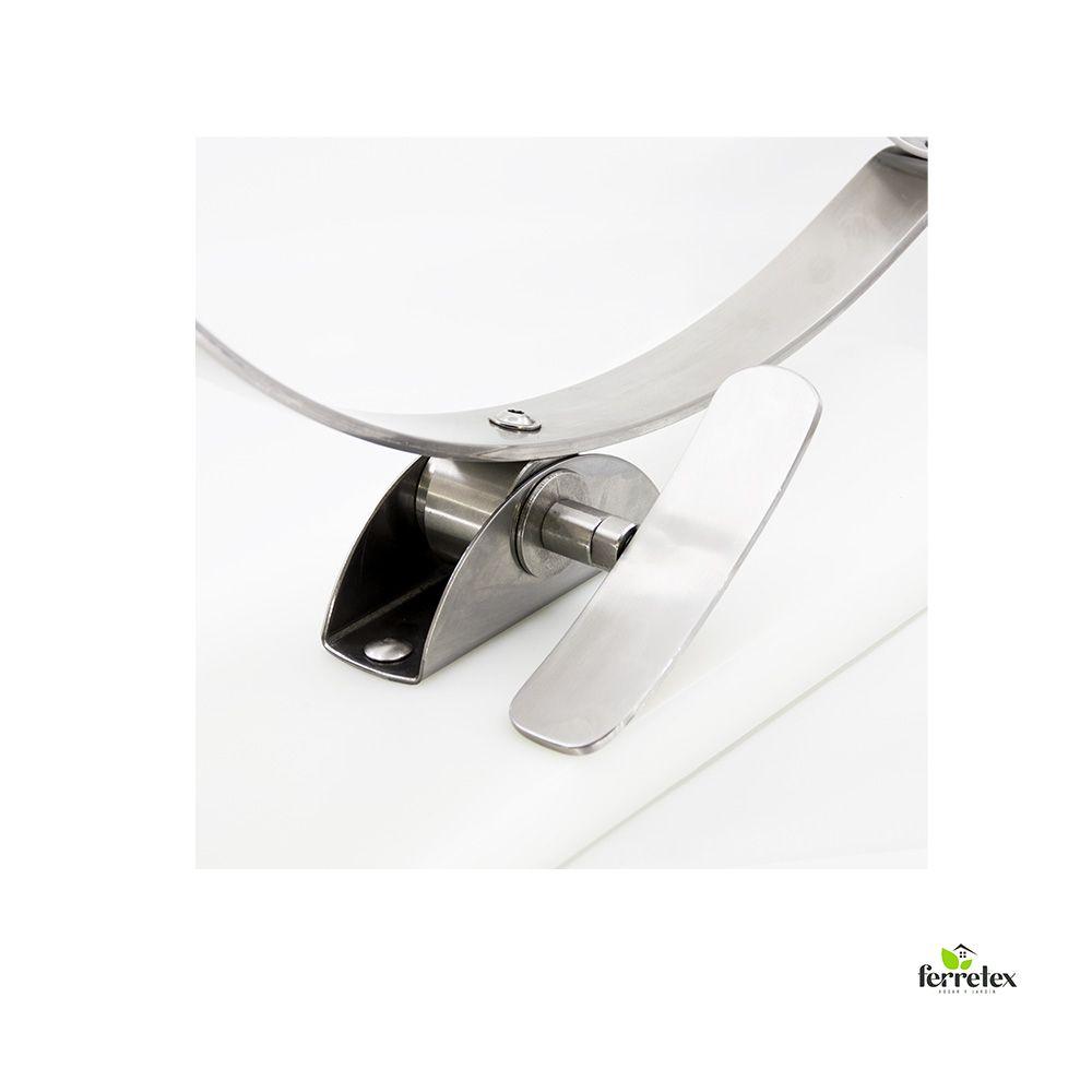 Jamonero giratorio inox. y fibra blanca 17930